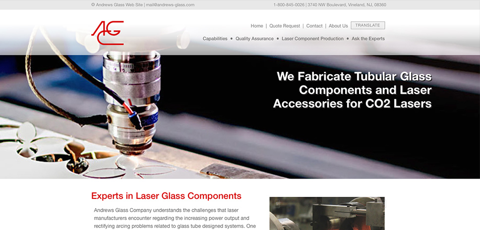 Andrews Glass Laser Components